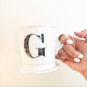 Anthropologie Letter G Monogram Mug